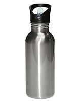 Silver Straw Top Water Bottle