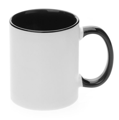 11 oz. Inner/Handle Black Orca Mugs