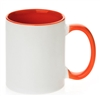 11 oz. Inner Handle Orange Orca Mugs