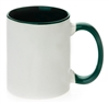 11 oz. Inner/Handle Green Orca Mugs