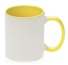 11 oz. Inner/Handle Yellow Orca Mugs