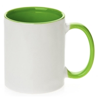 11 oz. Inner/Handle Light Green Orca Mugs