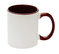 11 oz. Inner/Handle Maroon Orca Mugs