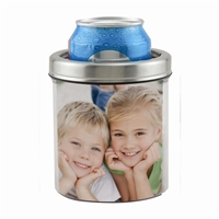 Stainless Steel Photo Insert Can Cooler