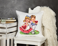 "17""  White Sublimation Pillow Cover (filler not included)"