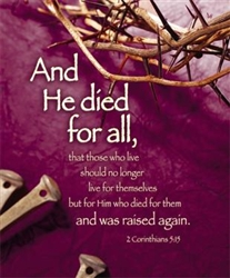 "Lenten ""And He Died For All"" Bulletin - Legal Size"