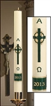 Emerald Cross Paschal Candle