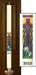 Radiant Light Mosaic Paschal Candle