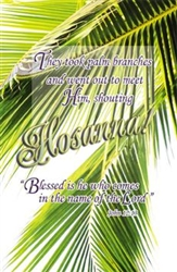 "Palm Sunday ""They Took Palm Branches"" Bulletin - Letter"