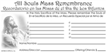 All Souls Mass Remembrance - English & Spanish Offering Envelope