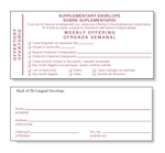 Bilingual Supplementary Envelopes
