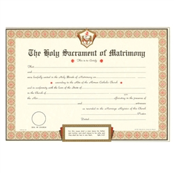 Marriage Certificate Parchment