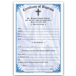Baptism Certificate  2-Color