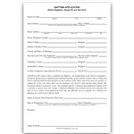 Baptism Application Form
