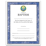 Full Color Baptism Certificate - Available in 9 Different Colors