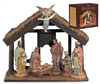7-Pc Nativity Set with Wood Stable - Free Shipping