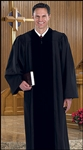 Cambridge Black Pulpit Robe with Polyester Velvet Panels