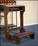 PADDED KNEELER -WALNUT FINISH