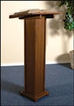 SQ BASE LECTERN-WALNUT FINISH