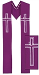 Lenten & Advent Clergy Stole - Perfect for Ordinary Time & Communion Seasons