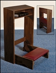 FOLDING KNEELER-WALNUT FINISH