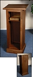FULL LECTERN - WALNUT FINISH