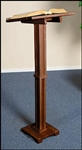 STANDING LECTERN-WALNUT FINISH