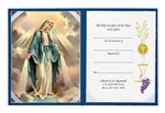 Our Lady of Grace Blue Set With Certificate & Gold Foil Stamped Cover - 20 Per Order