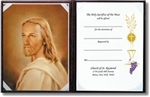 Profile of Christ Maroon With Certificate & Gold Foil Stamp Cover - 20 Per Order