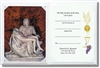 Pieta White Set With Certificate & Gold Foil Stamp Cover - 20 Per Order
