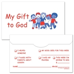 Children's 3 x 5 My Gift To God Envelope