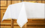 Lace Trimmed 100% Linen Altar Frontal