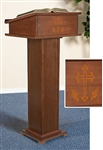Cross/Wheat Lectern W/Shelf