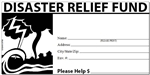 Disaster Relief Offering Church Envelope