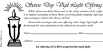Church Vigil Light Envelope