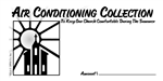 Church Air Conditioning Collection Envelope