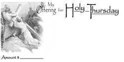 Holy Thursday offering Envelope