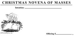Christmas Novena offering Envelope