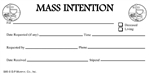 Church Mass Intentions Envelope