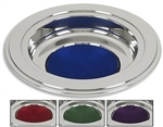 Silver Tone Offering Plates - Available in 4 Colors - Free Shipping