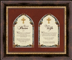 "Pastor and Pastor's Wife frame Wall Art Christian Verses - 17"" x 14"""