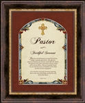"Pastor Matthew 28:19 Wall Art frame Wall Art Christian Verses - 14"" x 17"""