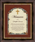 "Minister I Timothy 4:13-16 Wall Art frame Wall Art Christian Verses - 14"" x 17"""