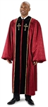 Pulpit Robe: Burgundy Jacquard