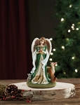 "Woodland Angel Figurine Resin, 5"" H"