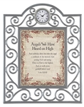 Angels We Have Heard on High Heartfelt Timeless Treasures Framed Table Clocks Metal frame - 7 X 9