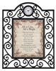 All is Calm, All is Bright Heartfelt Timeless Treasures Framed Table Clocks Metal frame - 7 X 9