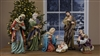 "24"" Tall Nativity Set Painted - Free Shipping"