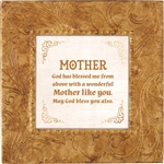 Mother Touch of Vintage Gold frame Tabletop Christian Verses - 7 x 7