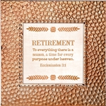 Retirement Touch of Vintage Copper frame Tabletop Christian Verses - 7 x 7